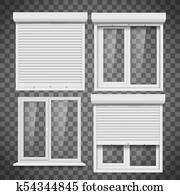 ensemble de fenêtres en pvc