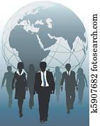 Global team emergent world business resources