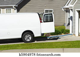 White Carpet Cleaning Service Van
