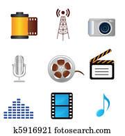 film,, music,, photographie, medien, heiligenbilder