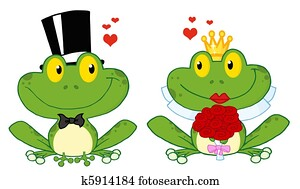 Frog Bride And Groom