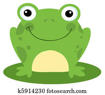 Smiling Frog On A Lily Pad