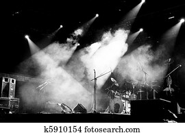 Stage in Lights - Black and White