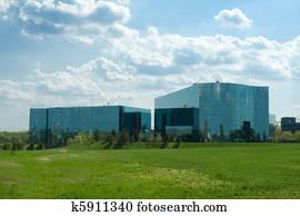 Banques de photographies ultra moderne ondulé verre b timents