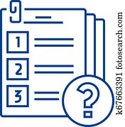 Exam line icon concept. Exam flat vector symbol, sign, outline illustration.