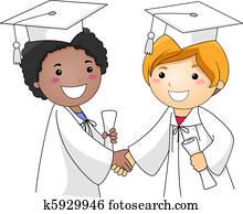 Kids Congratulating Each Other