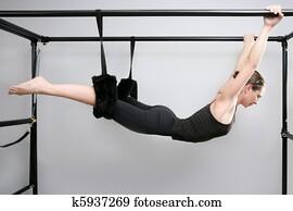 cadillac pilates sport woman gym instructor fitness
