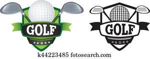 golf logo or badge, shield or branding