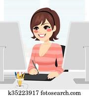 Graphic Designer Woman