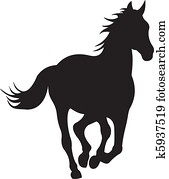 pferd, silhouette, vektor