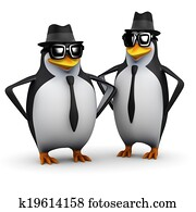 3d Penguin brothers