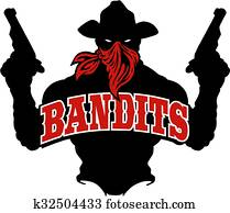 bandits silhouette