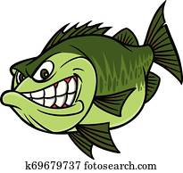 Bass Fishing Mascot
