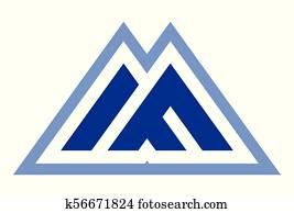 mountain letter M logo
