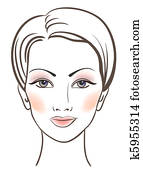 Beauty women face with makeup