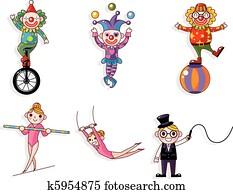 cartoon circus
