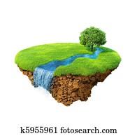 Idyllic natural landscape