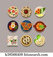 Korean Cuisine Illustrations And Clipart 116 Korean