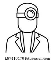 Ophthalmologist icon, outline style