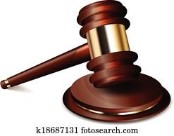 Vector illustration of judge gavel