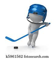 3d small people - hockey