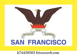 Flag of the city of San Francisco. California State