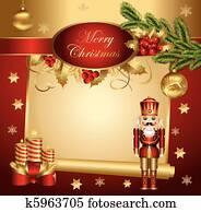weihnachten, spruchbaender, mit, nu?knacker