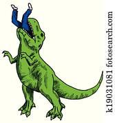 Dinosaur Eating