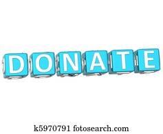 Donate Cube text
