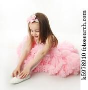 hübsch, vorschulisch, ballerina