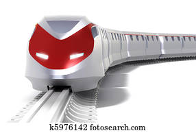 High speed train concept. Isolated