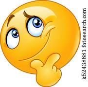 Ponder emoticon