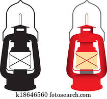 camping gas light red and black