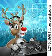 Christmas Reindeer Party DJ