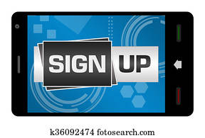 Sign Up Smartphone