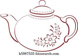teapot,, piktogramm