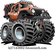 4x4 Off Road Vehicle Cartoon