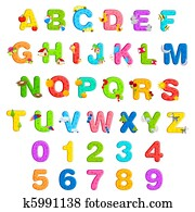 Alphabet and Number Set