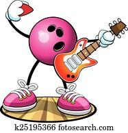 Bowling Character Rock 'n' Bowl