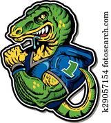 dinosaur football player