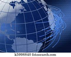 global telecommunications background design