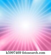 Light burst over blue and pink background