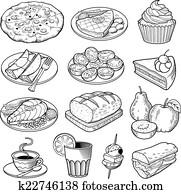 vektor, essen, abbildungen