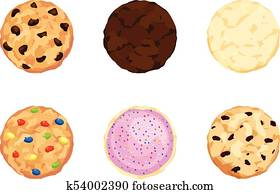 Chocolate Chip, Fudge, Sugar, Candy, Icing and Sprinkles, Oatmeal Cookies