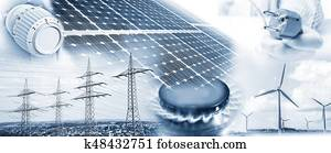 Energy supply with electricity and gas