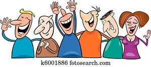 Group of laughing people