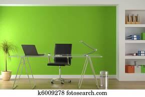 interior design of modern green office