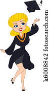 Pin Up Girl Graduate
