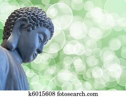 Bronze Zen Buddha Statue Meditating