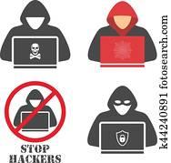 Hacker icons.